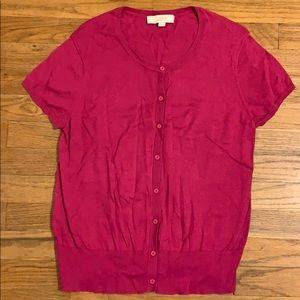 Loft short sleeve cardigan Large